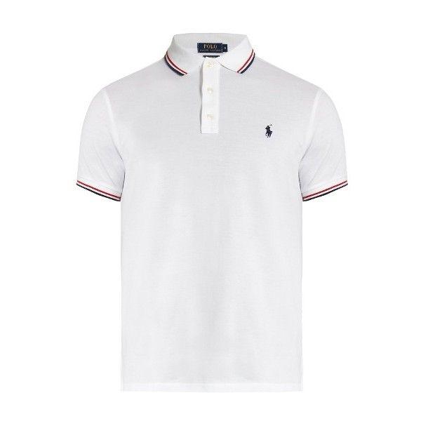 Polo Ralph Lauren Slim-fit striped-collar cotton-piqué polo shirt (655