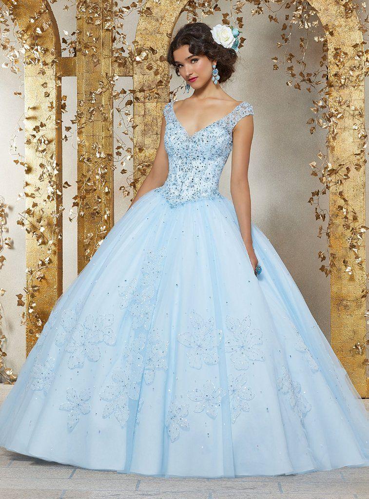 14d7404b82 3D Floral Applique Quinceanera Dress by Mori Lee Vizcaya 89229-Mori Lee  Vizcaya-ABC Fashion