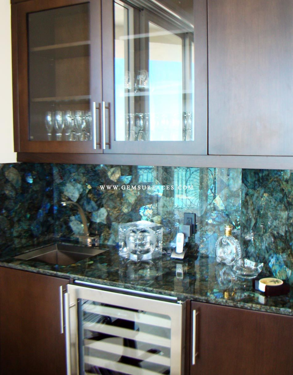 Electric Midnight Labradorite Kitchen Www Gemsurfaces Com You Can