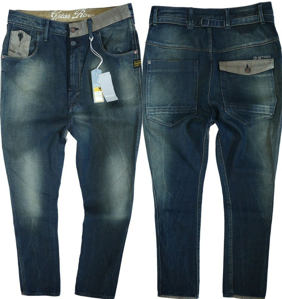 2ead33b5d2e G-Star Womens Jeans W-27 L-32 Railroad Dean Extreme Tapered Drop Crotch