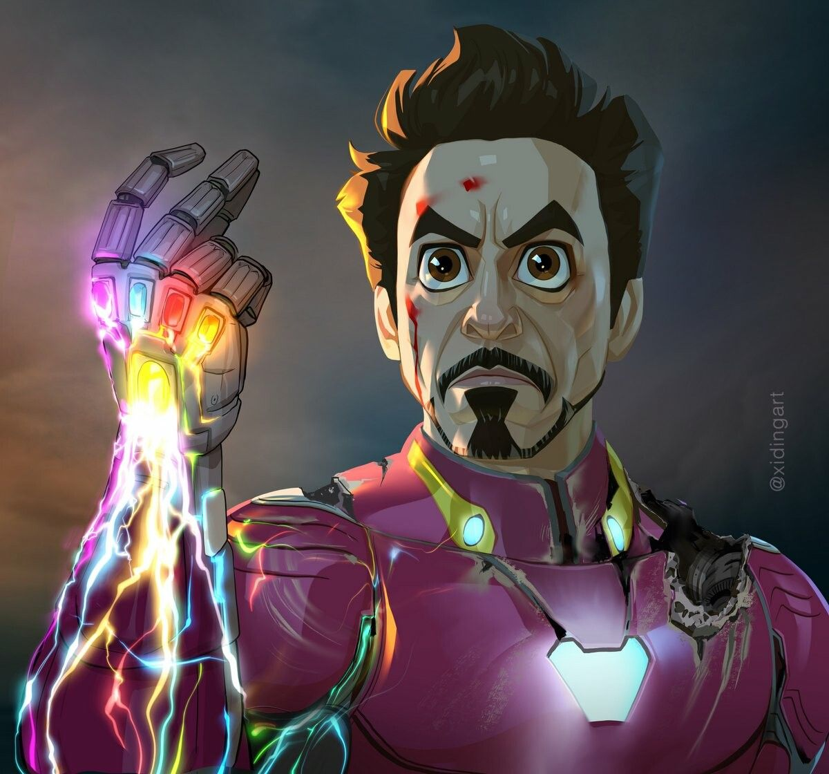 Iron man stylised endgame spoilers by xi ding