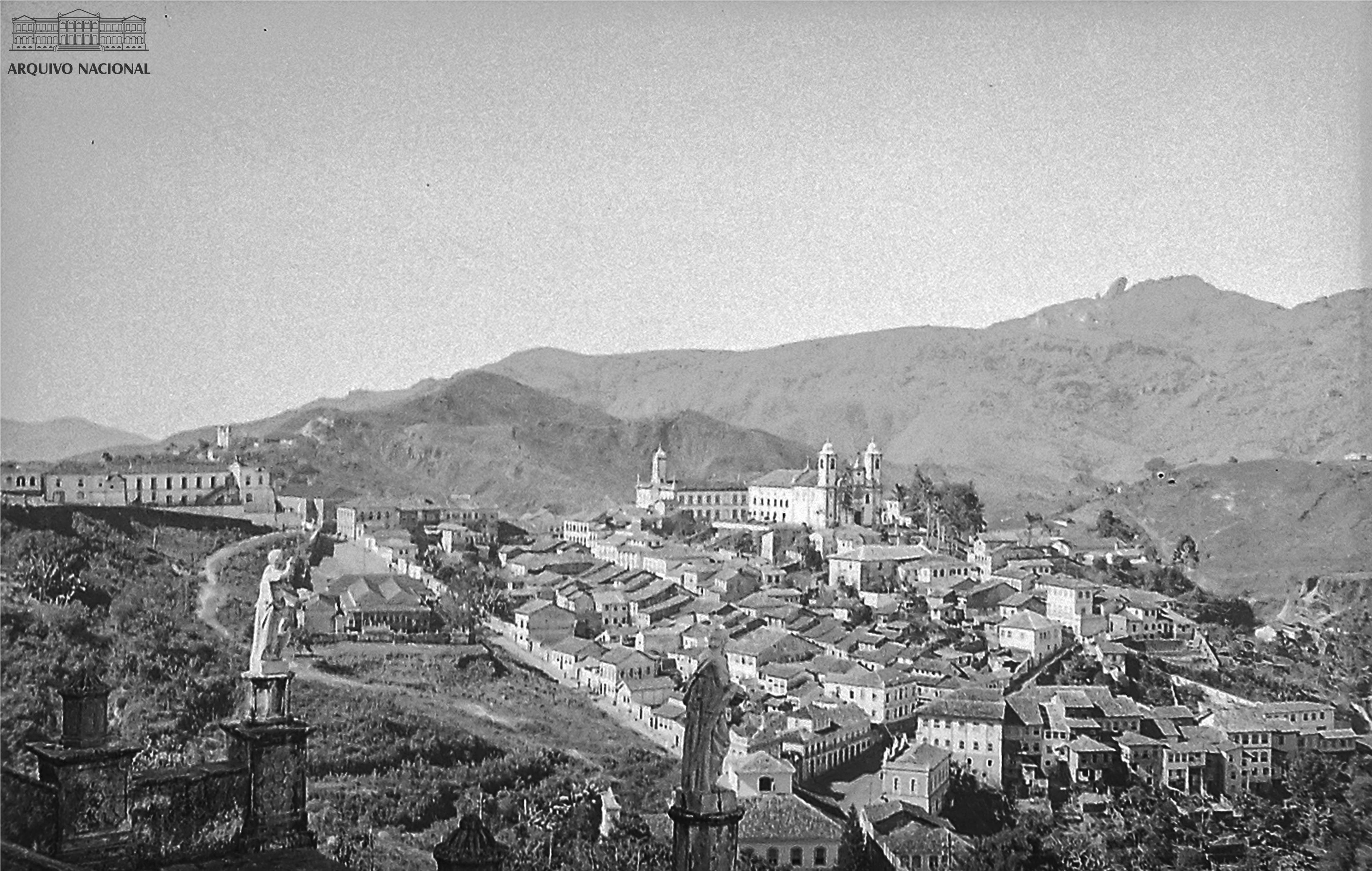 Vista De Ouro Preto Minas Gerais 1939 Arquivo Nacional Fundo