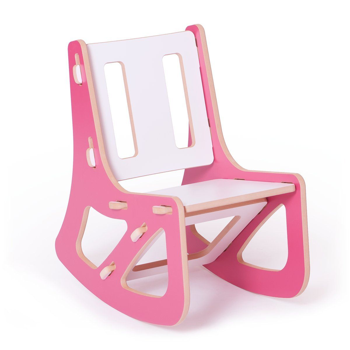 Sprout Kids Rocking Chair, Pink/White