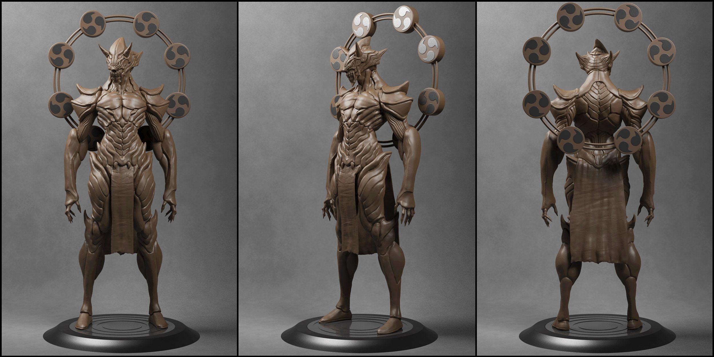 Oni-Raijin [Clay Render] by Khempavee on deviantART