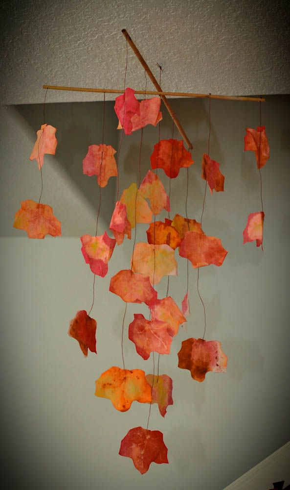 This Fall Decorate Your Home With A Leaf Mobile Using Glue Dots Leaf Crafts Fall Crafts For Kids Fall Crafts
