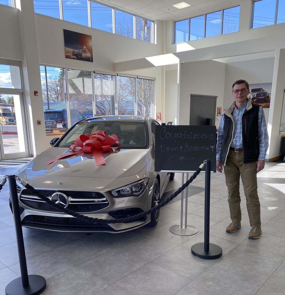 Christopher Lanaud Congratulations On The Purchase Of Your New 2020 Mercedes Benz Cla35 Thank You For Choosing Cash Mcconne Car Dealership Mercedes Benz Benz