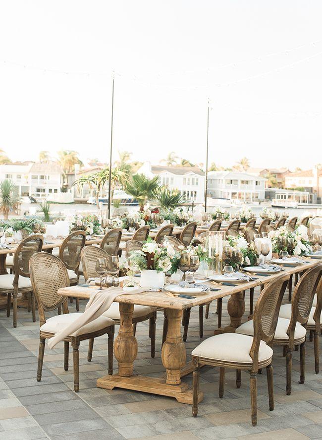 gorgeous coastal dinner party at huntington bay club beach wedding rh pinterest com