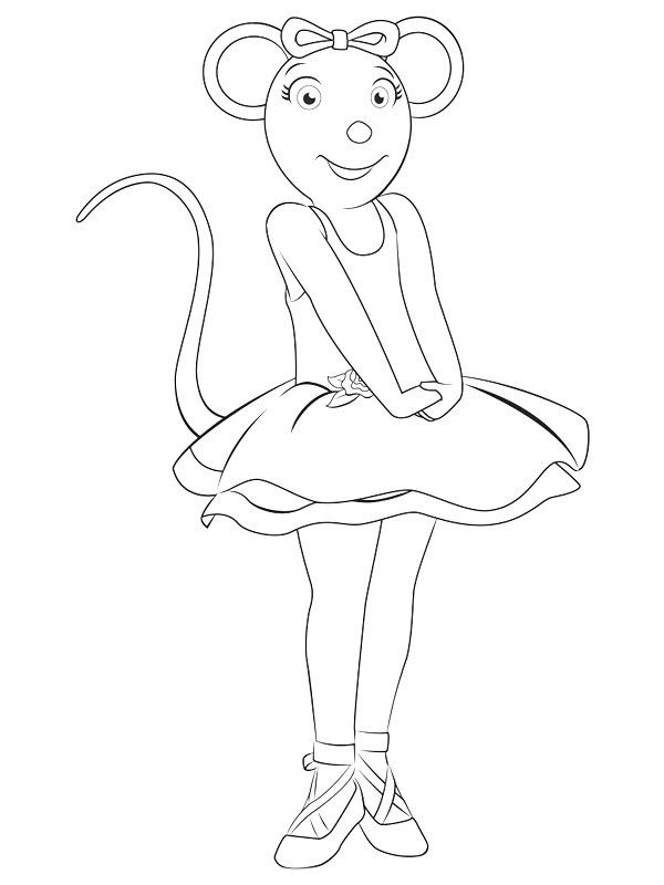 Angelina Ballerina Coloring Pages 24 | angelina | Pinterest ...