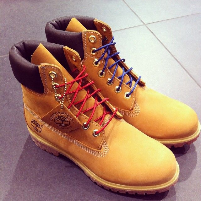 timberland red laces