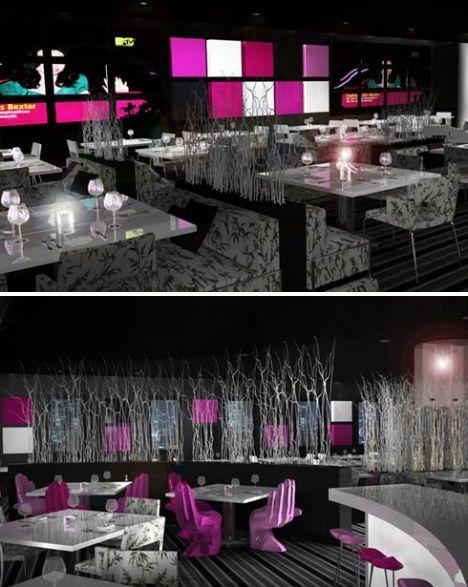 crafty to crazy 13 contemporary cafes coffee shops - Purple Cafe Ideas