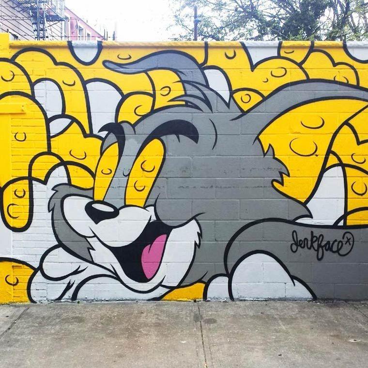 Jerkface – Between street art and pop culture | Street art, Pop ...