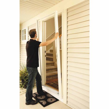 ODL Brisa White Tall Retractable Screen For 96 Inch Inswing/Outswing Doors