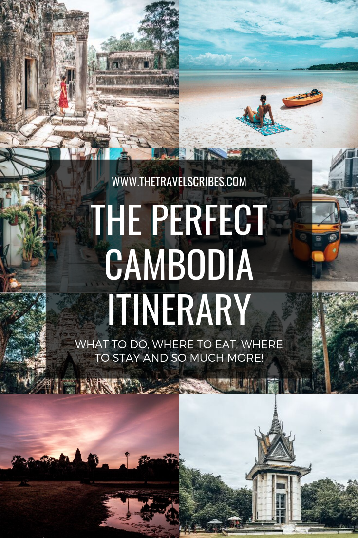 How to spend 10 days in Cambodia - We've curated the ultimate guide to ten days (or two weeks) in Cambodia, jam-packed full of helpful advice, travel tips, what to do, where to stay and more! This is the perfect Cambodia travel itinerary - just click here!  #cambodia #khmer #itinerary #travel #kohrong #phnompenh #siemreap #angkor #samloem #sanloem