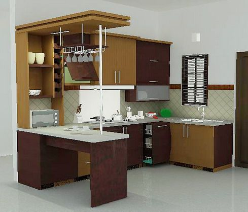 Interior Dapur Kitchen Set Minimalis - Eksterior, Interior