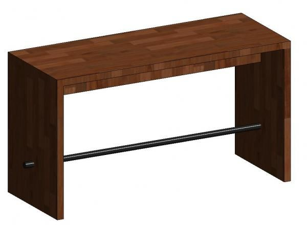 Bench table bar h l w revit models