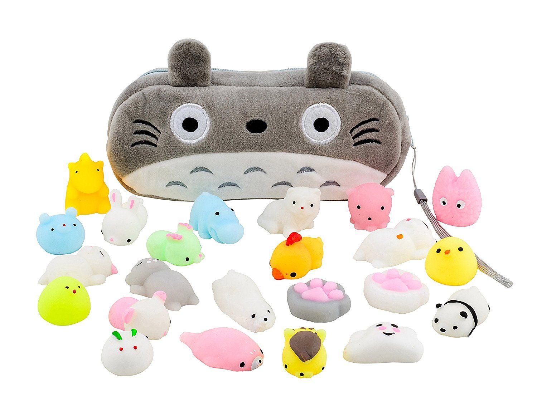 Mochi Squishy Toys 20Pcs Pack FREE Kawaii Cat Carrying
