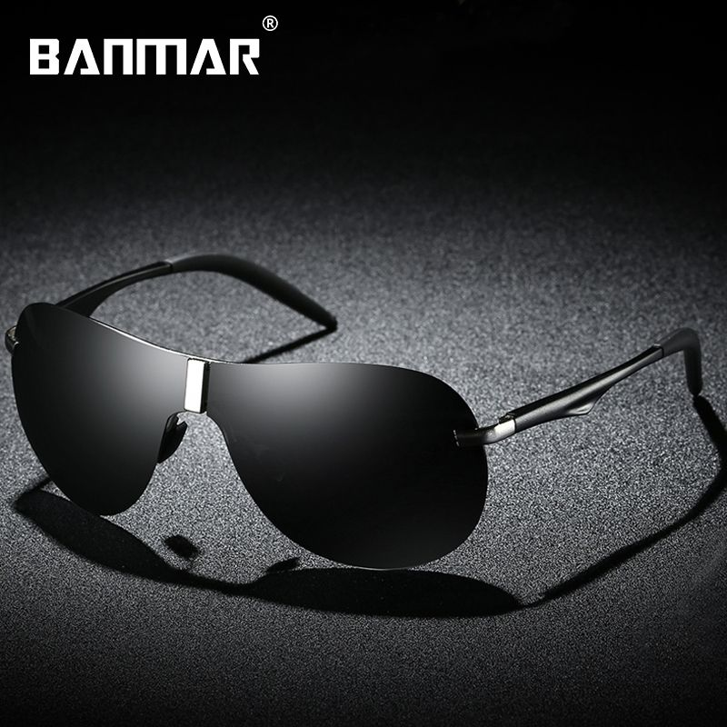 665ecd2a423c4 BANMAR Rimless Sunglasses HD Polarized Brand Designer Men Sun Glasses  Eyewear Accessories Goggles Gafas lente de sol hombre A530