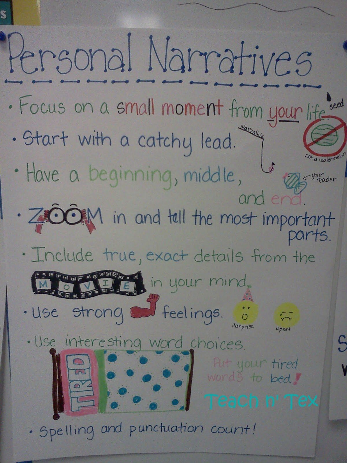 personal narrative anchor chart | education | pinterest | anchor