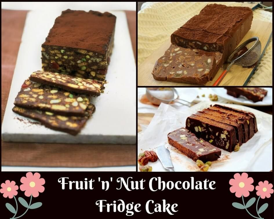 Fruit N Nut Chocolate Fridge Cake Chocolate Fridge Cake Sweets Recipes Delicious