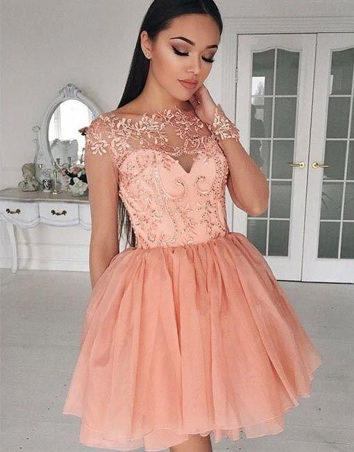 pink homecoming dress,homecoming dress,cheap homecoming dress ...
