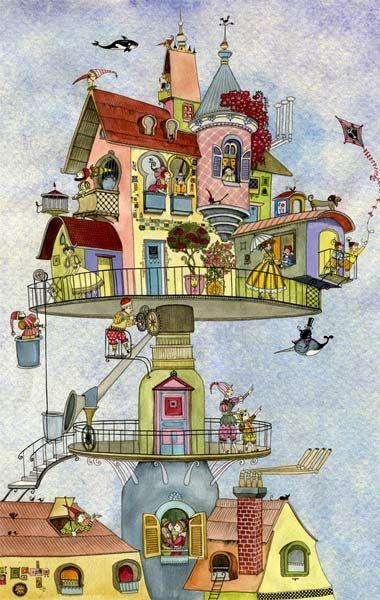 Arte De Sveta Dorosheva Vecindad Grafica Diseno Grafico Arte Y Diseno Blog De Arte Ilustraciones