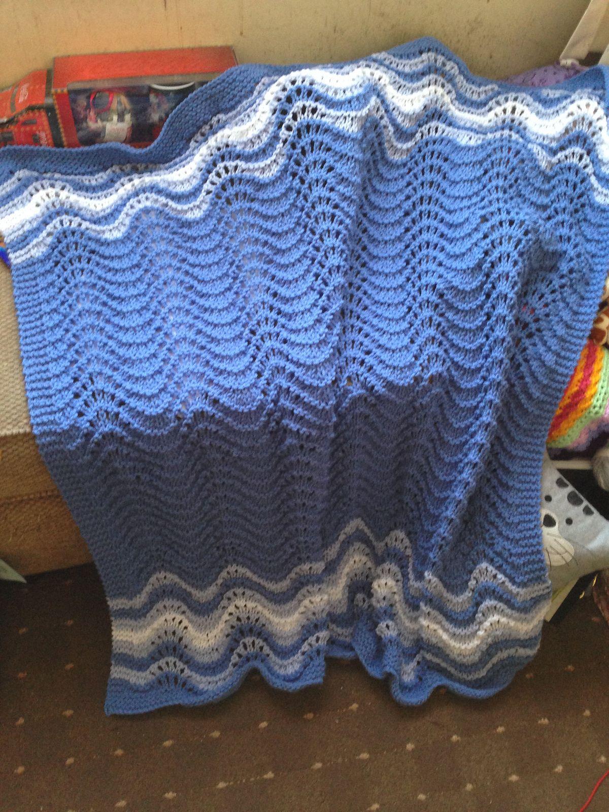 Feather And Fan Rainbow Baby Blanket Pattern By Cathy Waldie Yarn