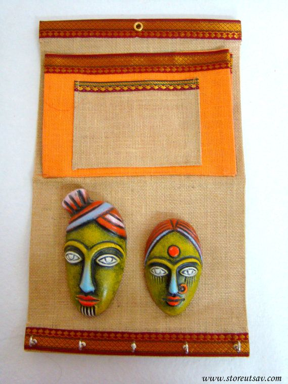 Home Decor Wall Hanging Organizer Indian Handicraft Keys Holder