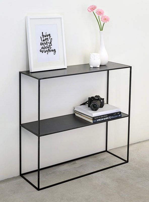 Cette console métal (acier brut) de style industriel est réalisable - exemple devis construction maison