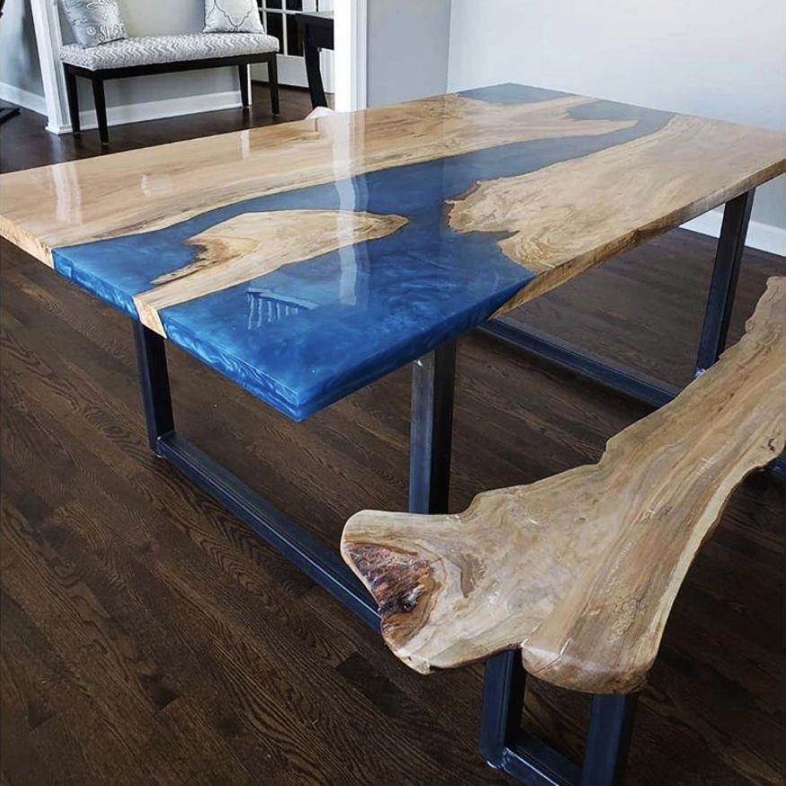 Guide To Making Epoxy Tables Coffee Table Resin Table Dining Table In Kitchen