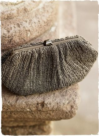 Gunmetal Beaded Clutch  $149