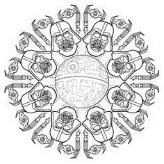 star wars mandala google search adult coloring pages mandala tattoo star wars coloring. Black Bedroom Furniture Sets. Home Design Ideas