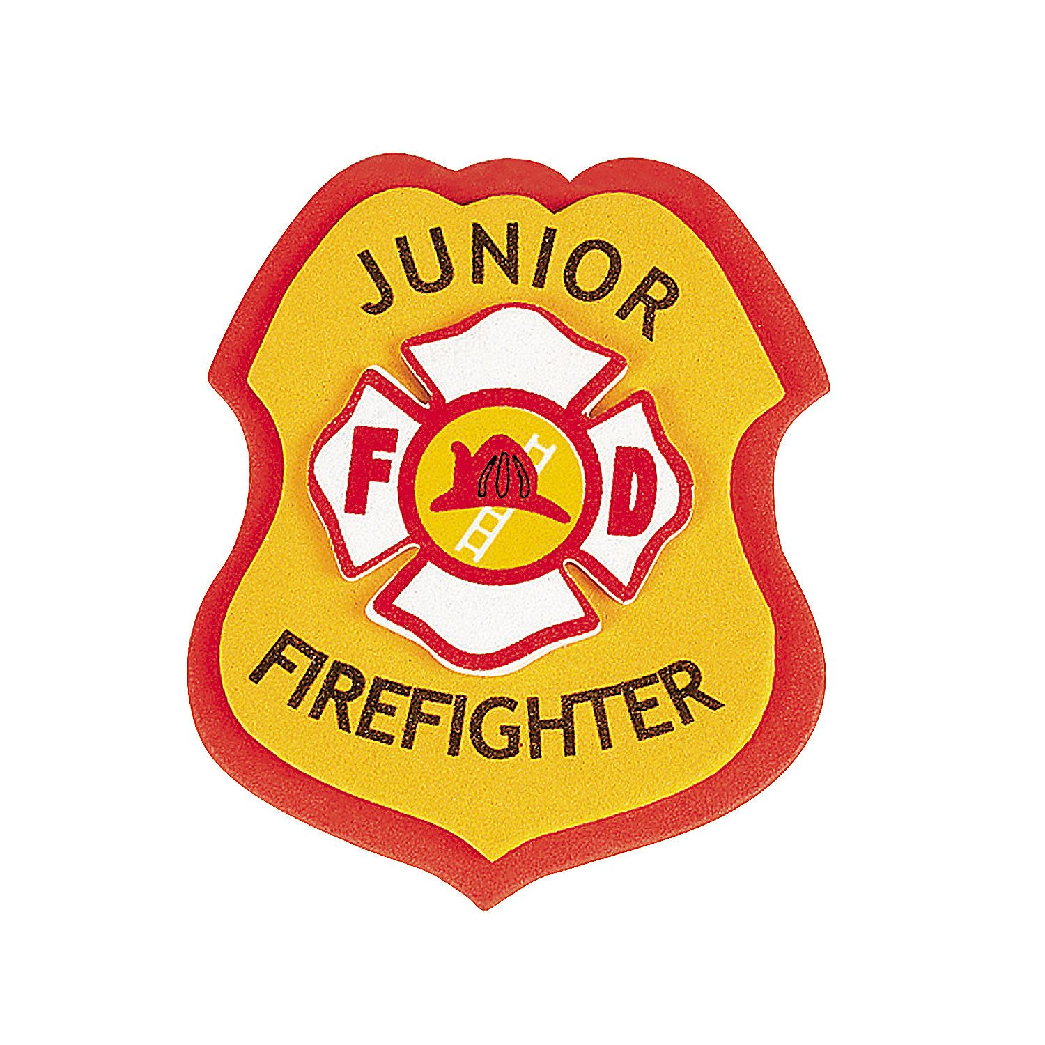"""Junior+Firefighter""+Badge+Craft+Kit+-+OrientalTrading.com 
