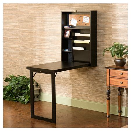 Franklin Writing Desk   This Folds Up Into A Rectangular Box That Hangs On  Your Wall