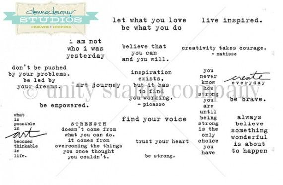 Donna Downey inspirational stamps