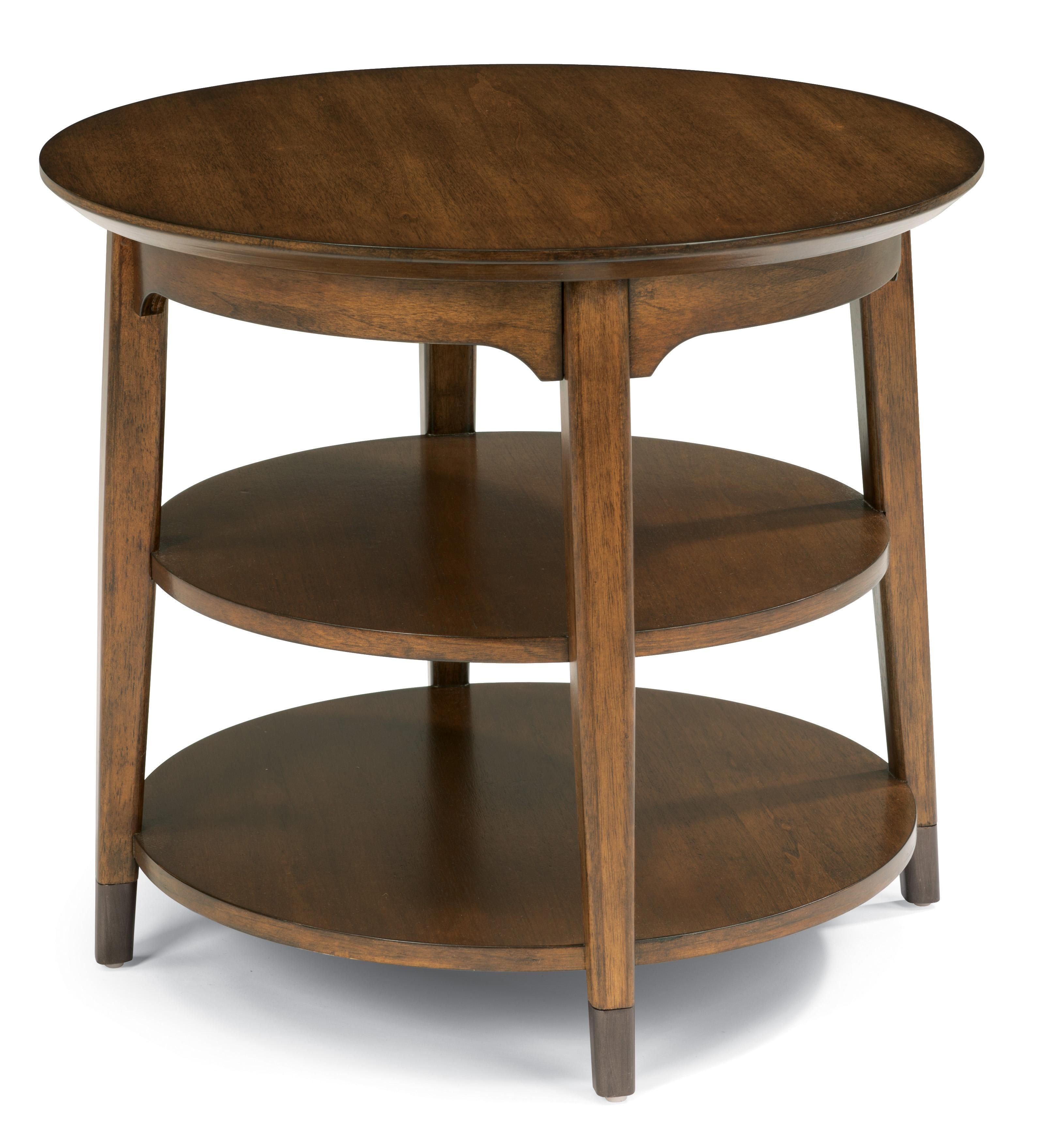 Flexsteel Gemini round lamp table this one matches the coffee