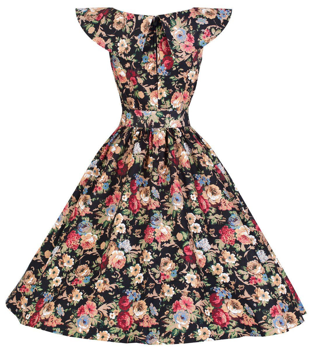 Lindy Bop Hetty Vintage 1950 S Spring Garden Floral Party Dress At Amazon Women S Clothing Sto Vintage Inspired Dresses Floral Swing Dress Floral Dress Black [ 1200 x 1069 Pixel ]