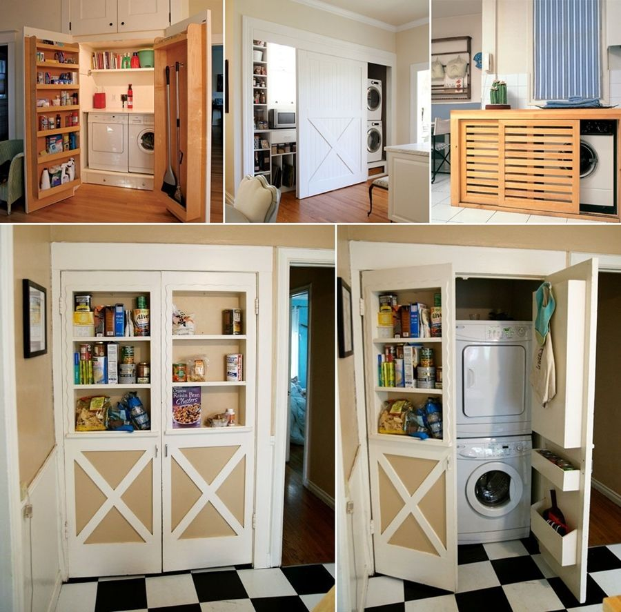 25 Ingenious Ideas to Hide a Laundry Room - http://www ...