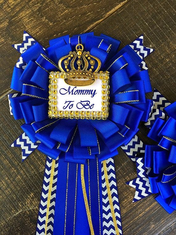 Royal Blue Baby Shower Mommy To Be Pin Little Prince Corsage