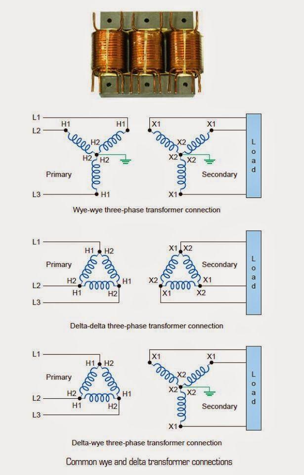 common wye delta transformer connections electrical electrical rh pinterest com  electrical transformer diagram