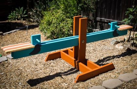 Diy kids seesaw on the cheap do it yourself home projects from diy kids seesaw on the cheap do it yourself home projects from ana white solutioingenieria Images