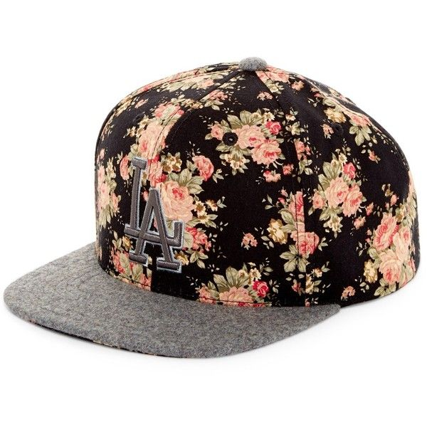 American Needle Pembine LA Dodgers Snapback Hat ($16) ❤ liked on Polyvore featuring men's fashion, men's accessories, men's hats, multi, mens snapback hats, mens flat hats and mens floral hats