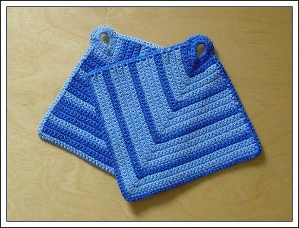 Topflappen | Crochet | Pinterest | Topflappen, Topflappen häkeln und ...
