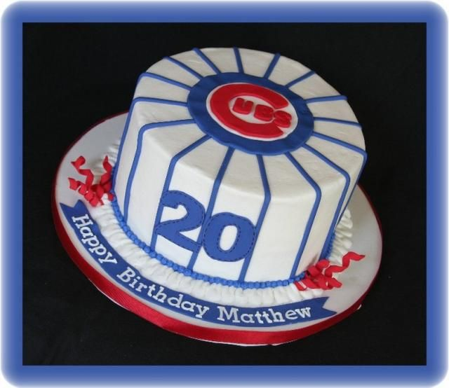 Bday Cake For The Husband Cubs Cake Chicago Cubs Cake