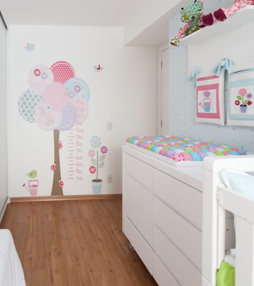 41 ideias para decorar quarto de beb menina bebe beb - Dibujos habitacion bebe ...