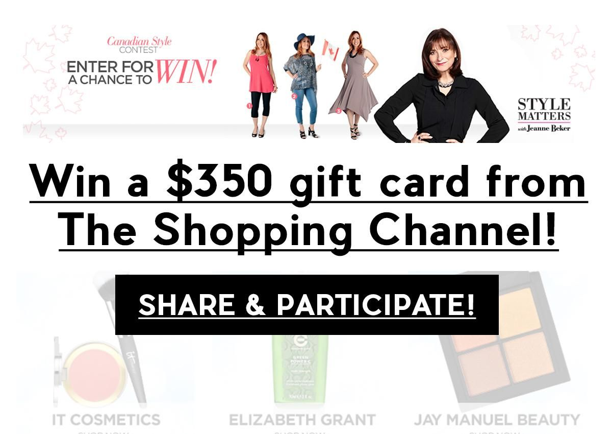 Contest: Win a $350 gift card from The Shopping Channel! Conest ends ...