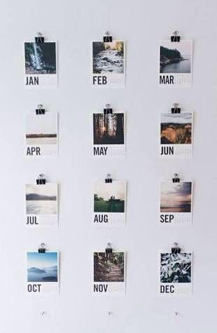 tumblr polaroid mini calendars