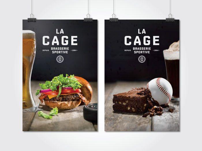 La Cage - Brasserie sportive   lg2boutique on Behance