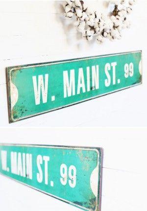Street Sign Home Decor Cool Main Street Wall Sign Metal Main Street Wall Sign Old Street Review
