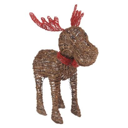 33 Lighted Rattan Moose Decoration Outdoor Décor Figurine Not Much Into These