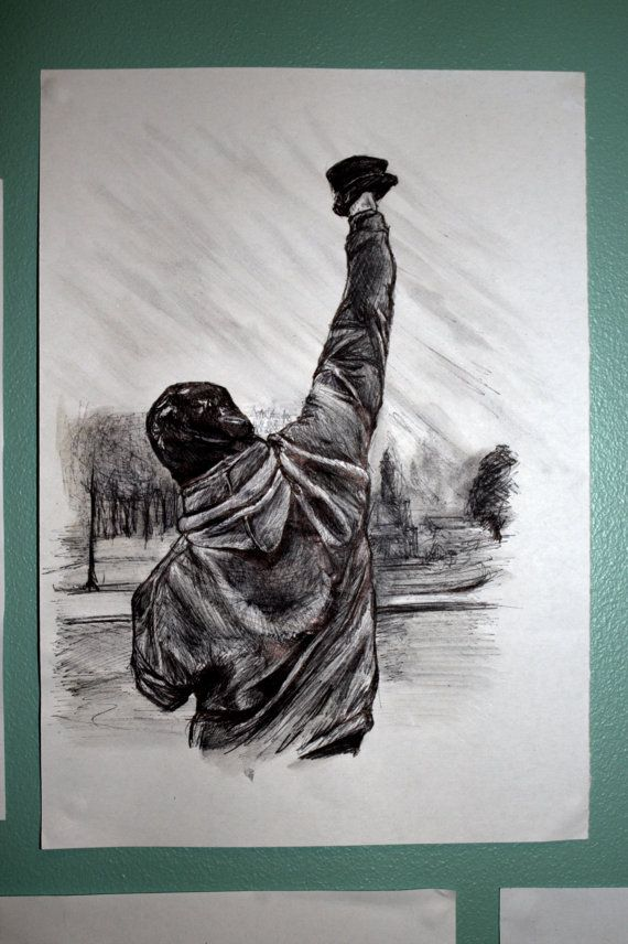 Customized Pen Drawing Rocky Balboa With Images Drawings